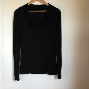 Banana Republic Cowl Neck Long Sleeve Top Black